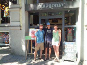 Vielen Dank für das Outfit von patagonia auf der Leopoldstraße.