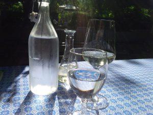 Das erste Glas Wein !