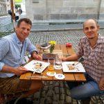 Sebastian und Pascal in der Passauer Altstadt